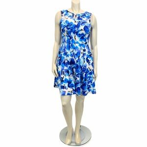 JESSICA HOWARD Blue Fit Flare Sundress Sz 10